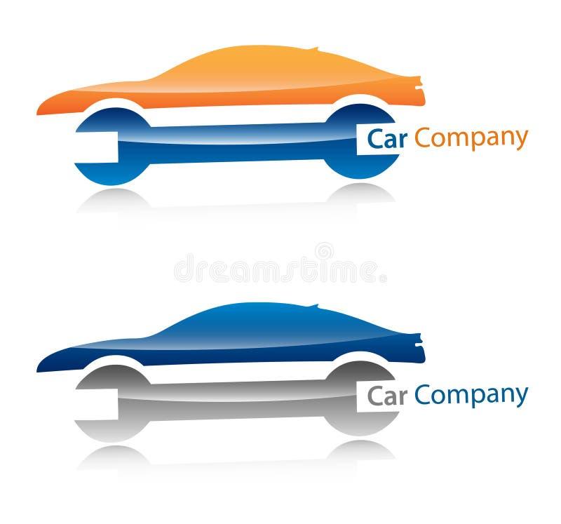 Logotipo da companhia de carro ilustração royalty free