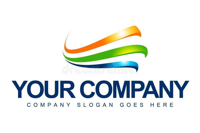 Logotipo da companhia de negócio ilustração stock