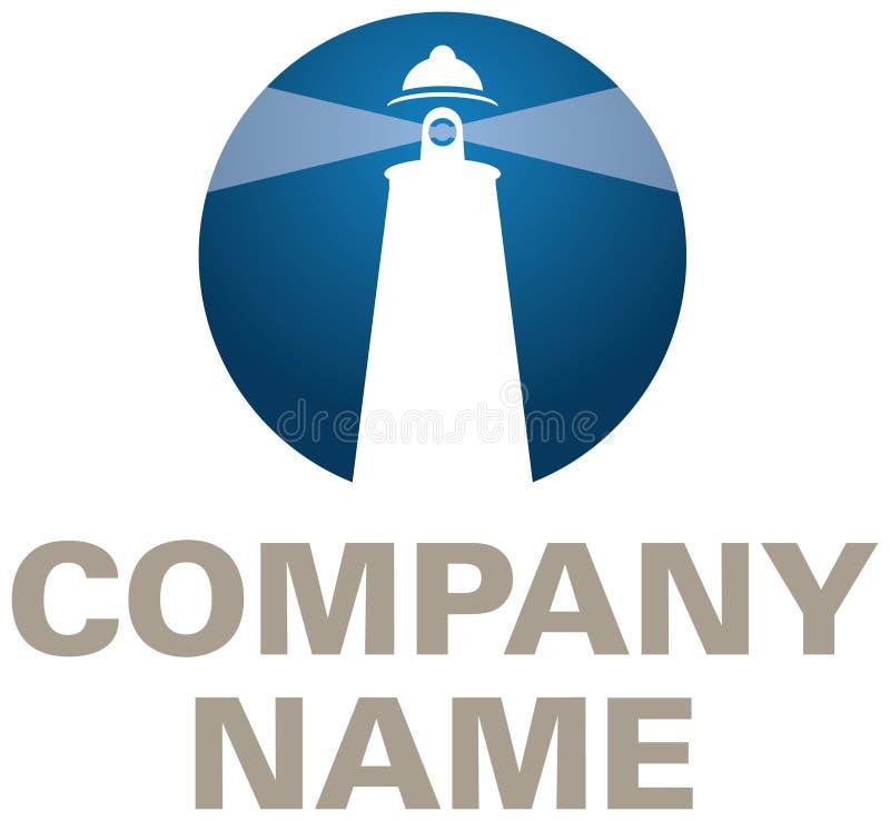 Logotipo da companhia do farol ilustração royalty free