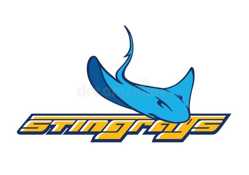 Logotipo da companhia do vetor com ícone do stingray ilustração royalty free