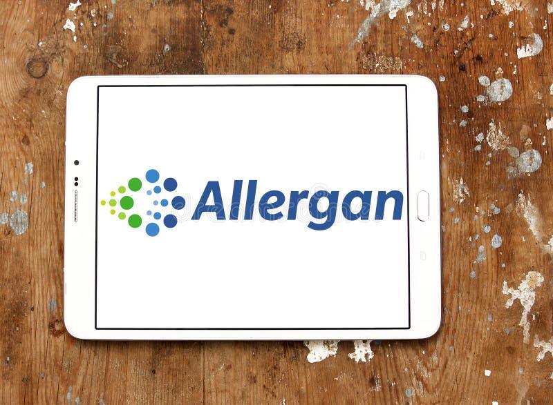 Logotipo da companhia farmacéutica de Allergan imagem de stock royalty free