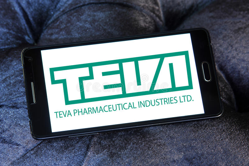 Logotipo da companhia farmacéutica de Teva fotos de stock royalty free