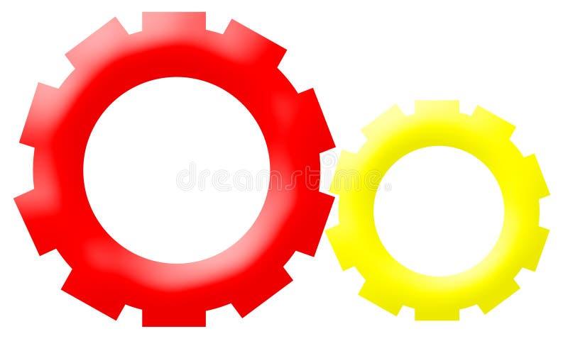 Logotipo da companhia - rodas Gear-Driven do mecanismo ilustração royalty free