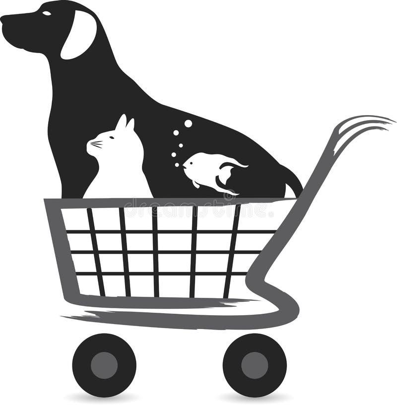 Logotipo da compra do animal de estimação ilustração royalty free