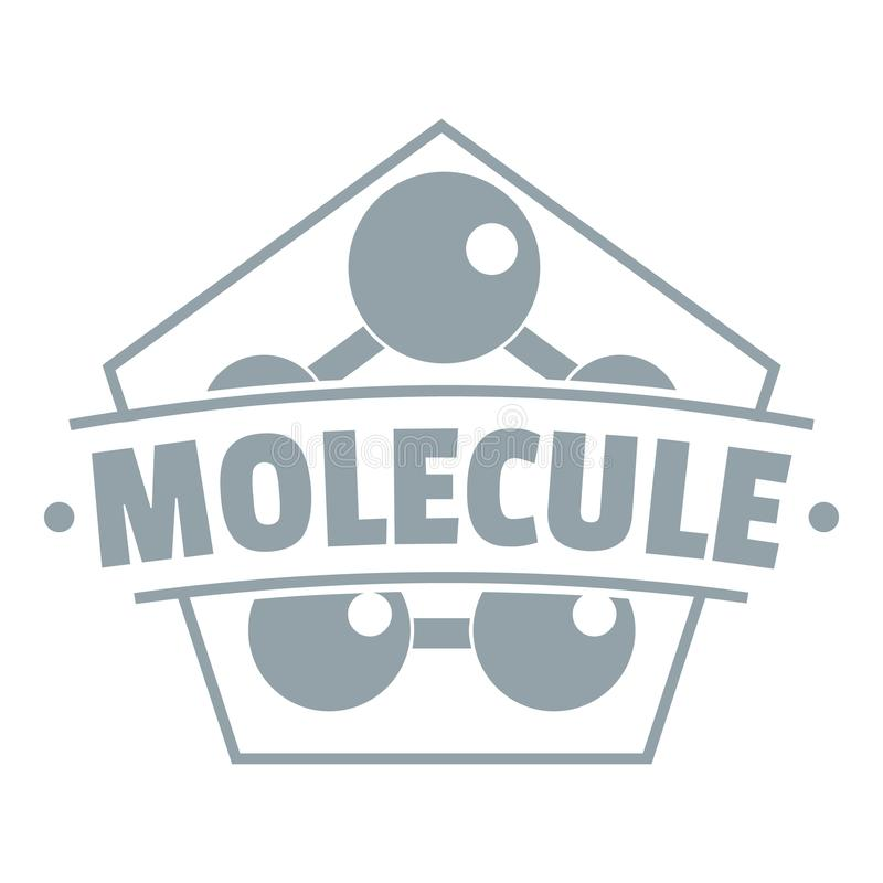 Logotipo da conexão da molécula, estilo cinzento simples ilustração royalty free