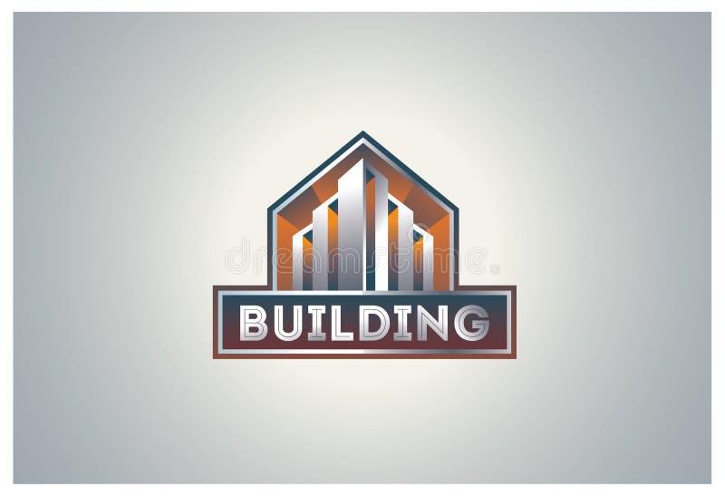 Logotipo da construção ilustração royalty free