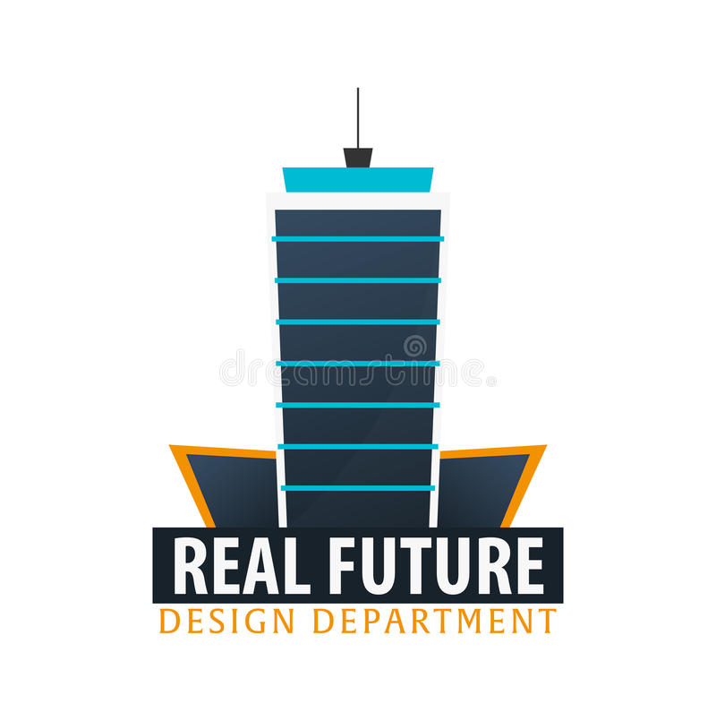 Logotipo da construção Departamento de projeto Edifícios modernos Ícones da empresa ilustração do vetor
