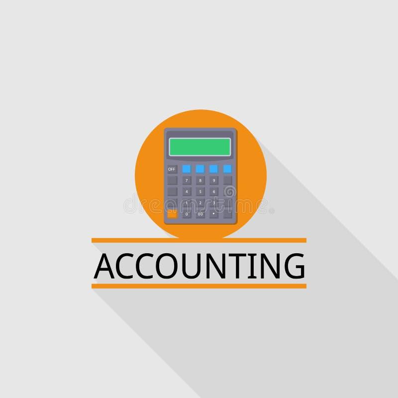 Logotipo da contabilidade da calculadora, estilo liso ilustração stock