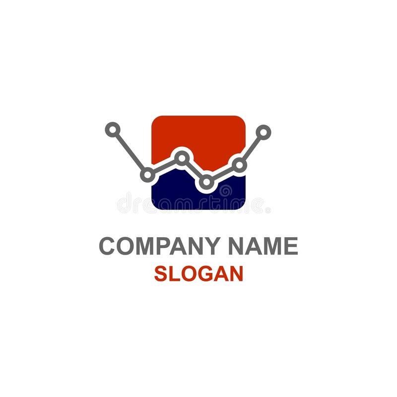 Logotipo da contabilidade da finança da inicial da letra de W ilustração do vetor