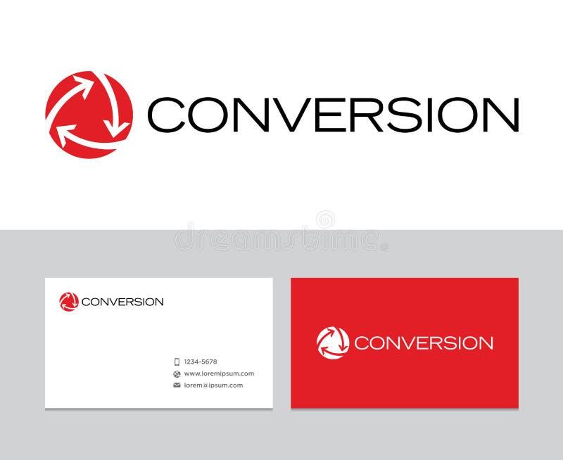 Logotipo da conversão ilustração stock