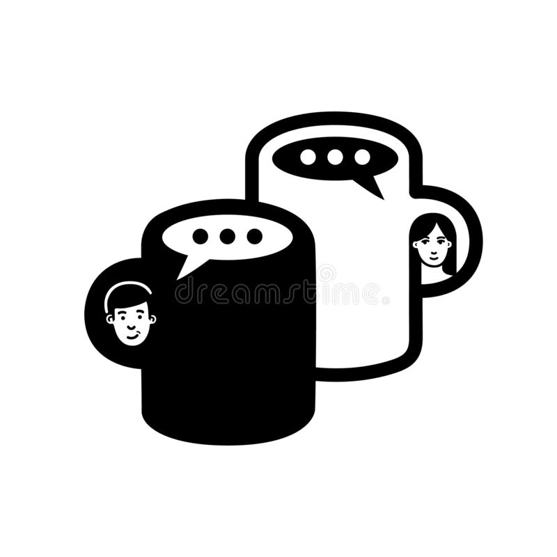 Logotipo da conversa do café ilustração stock
