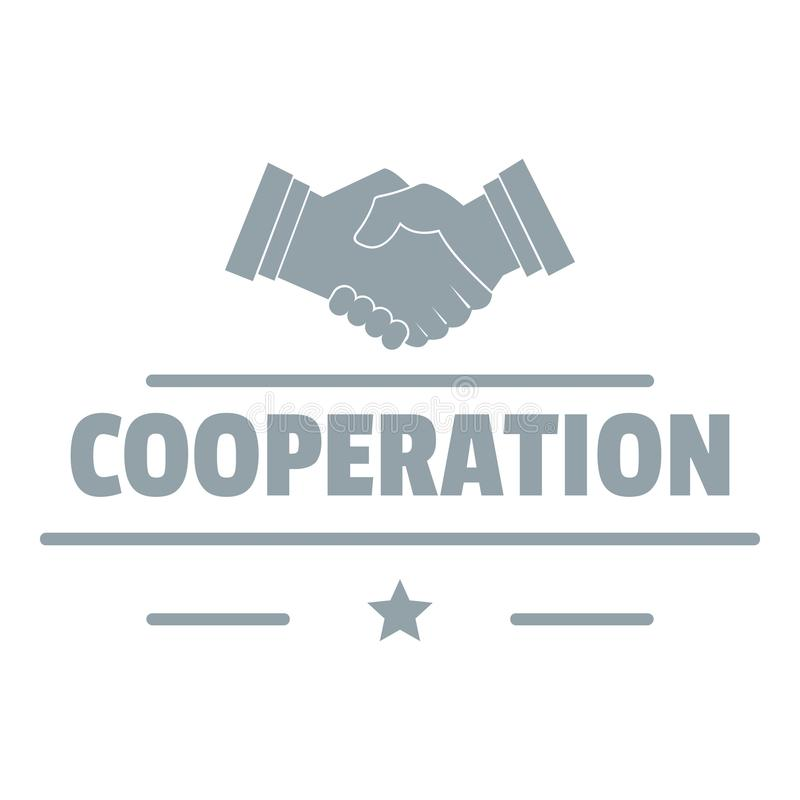 Logotipo da cooperação, estilo cinzento simples ilustração royalty free