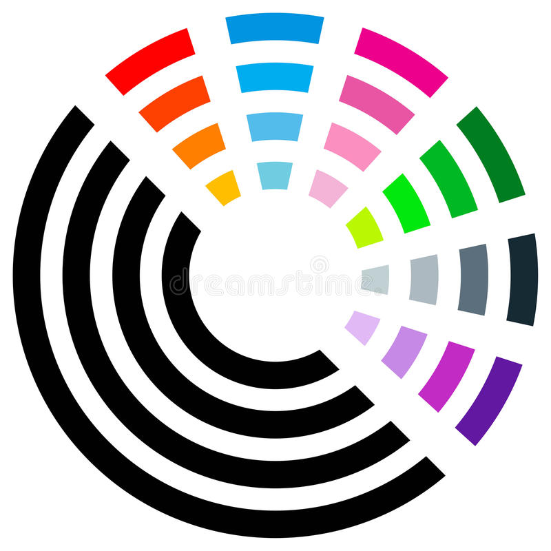 Logotipo da cor ilustração do vetor