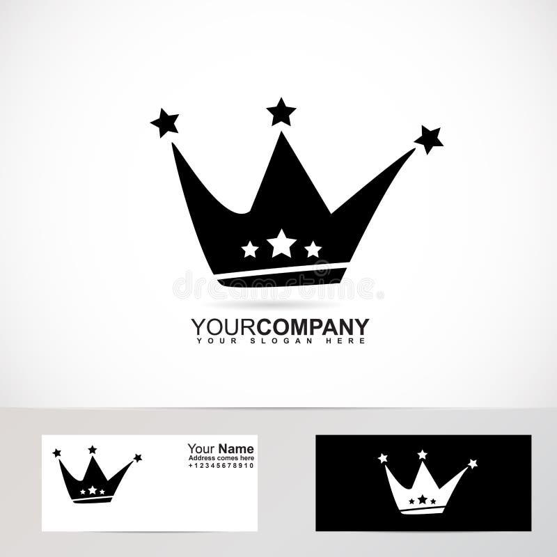 Excepcional Logotipo Da Coroa Do Rei Preto E Branco Ilustração do Vetor  WI84