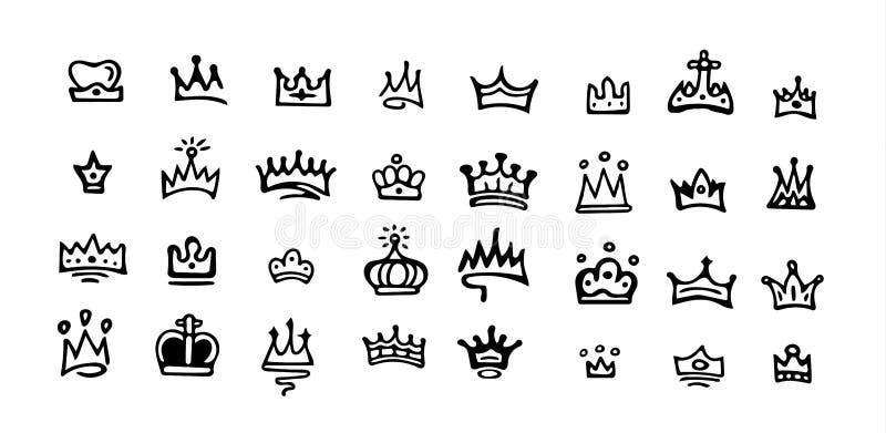 Logotipo da coroa do vetor ilustração do vetor