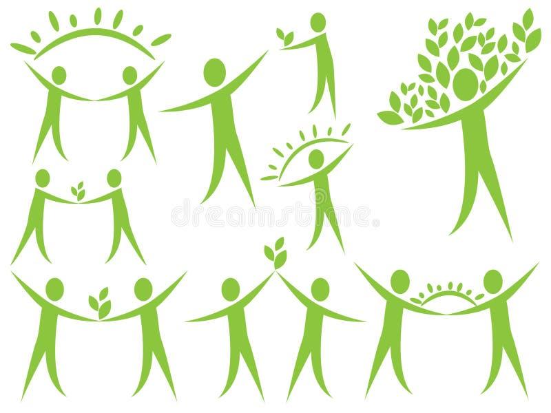 Logotipo da ecologia ilustração stock