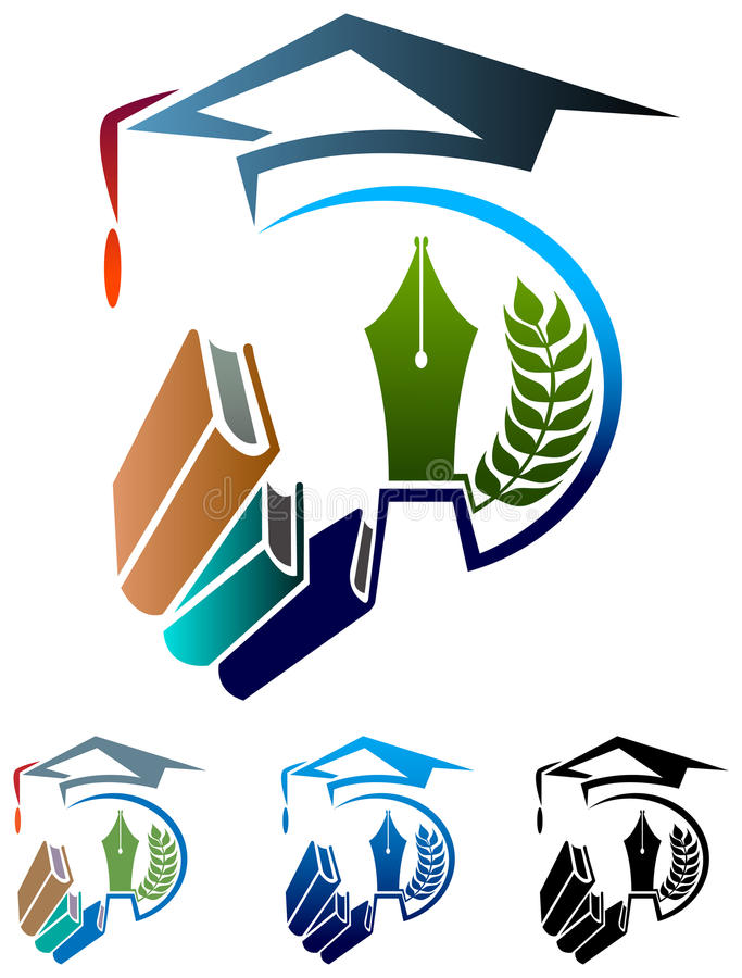 Logotipo da educação ilustração do vetor