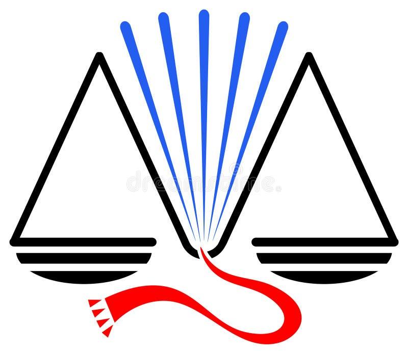 Logotipo da educação da lei ilustração royalty free