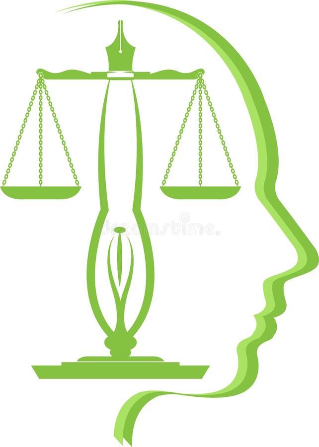 Logotipo da educação da lei ilustração stock