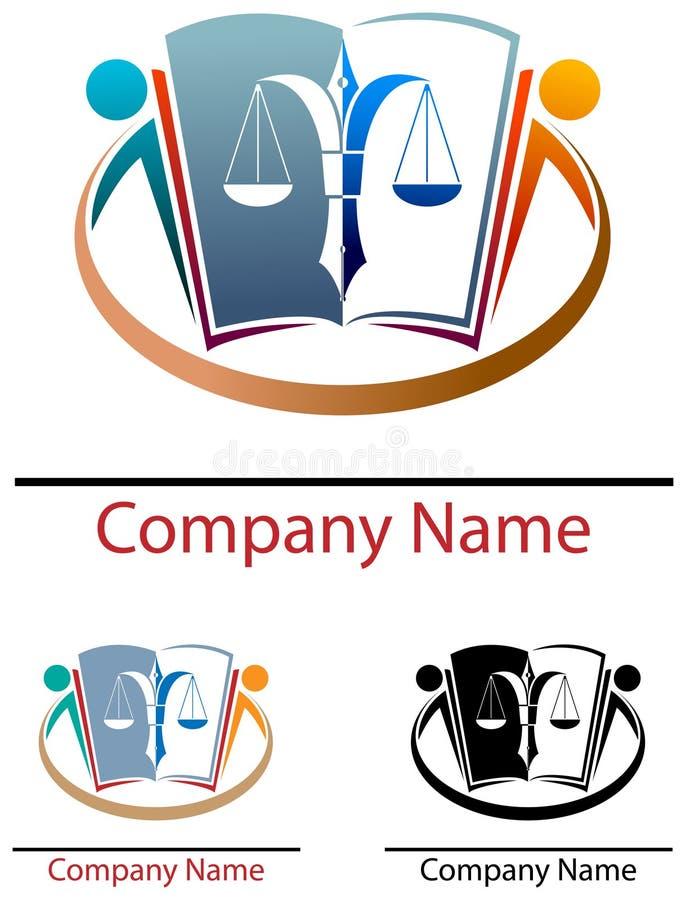 Logotipo da educação da lei ilustração do vetor