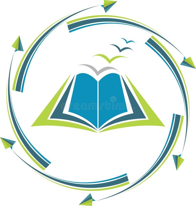 Logotipo da educação do alvo ilustração royalty free