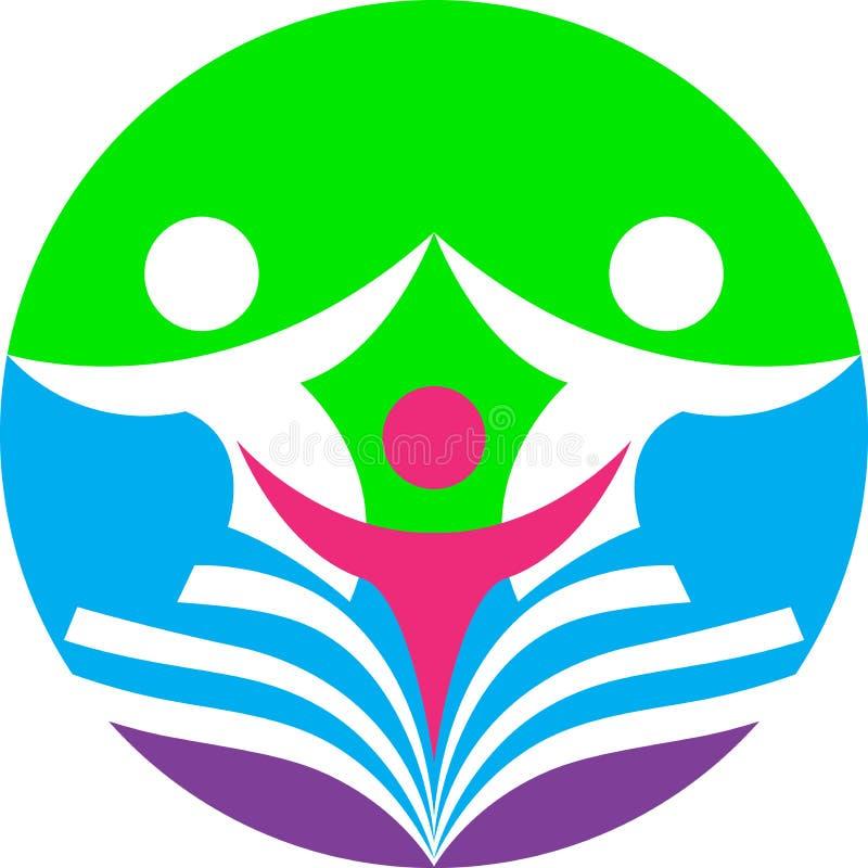 Logotipo da educação e formação ilustração stock