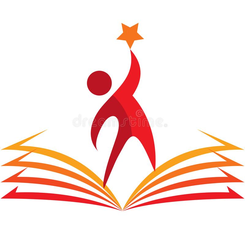 Logotipo da educação, estrela do alvo, o melhor estudante ilustração royalty free