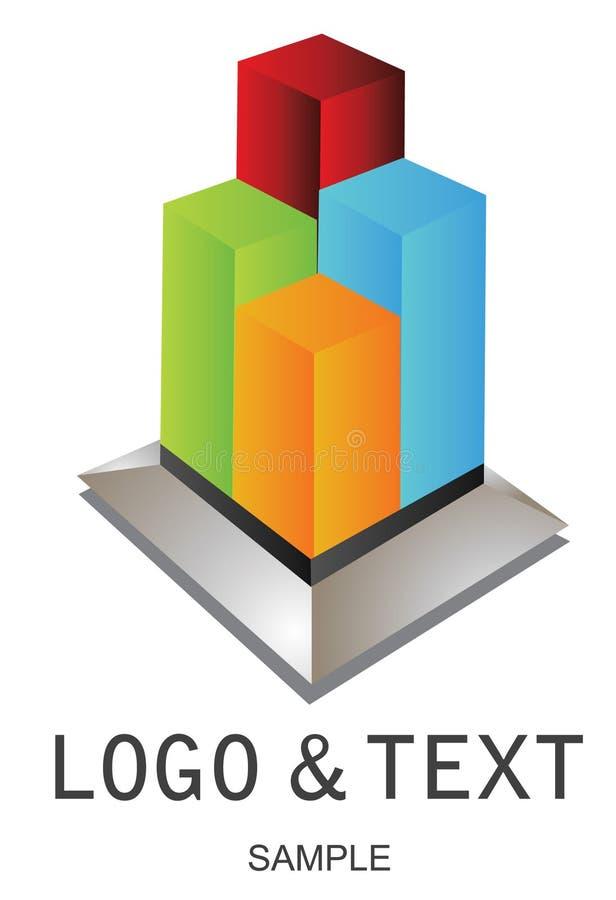 Logotipo da empresa ilustração royalty free