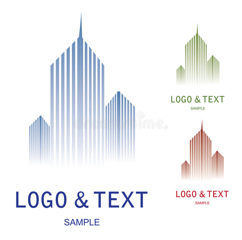 Logotipo da empresa ilustração do vetor