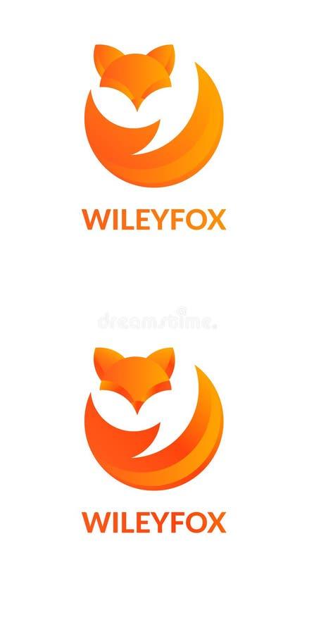 Logotipo da empresa com raposa ilustração royalty free