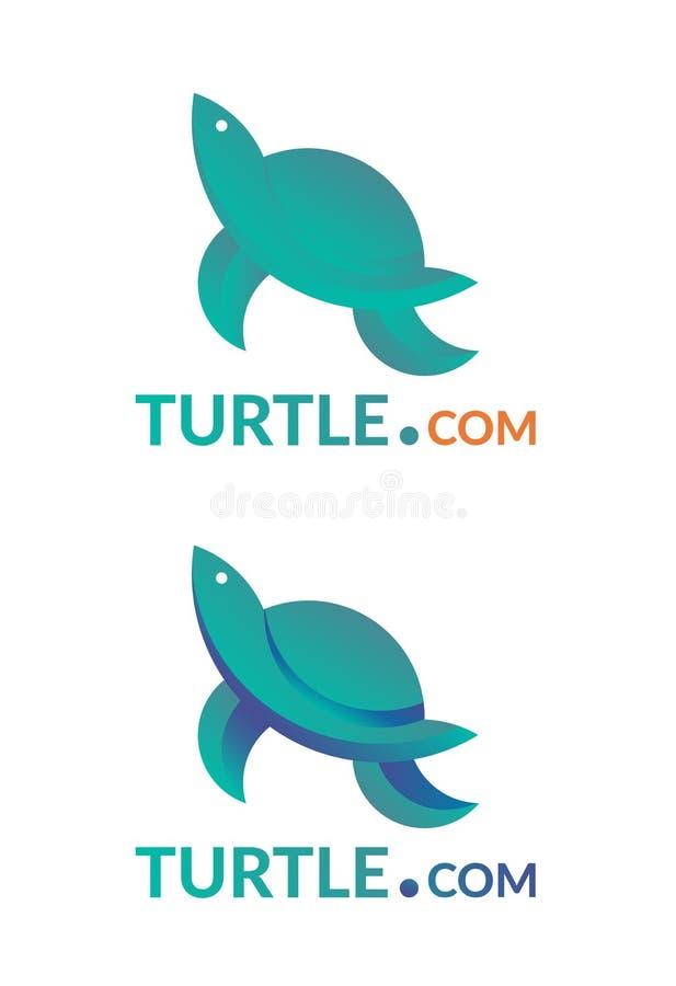 Logotipo da empresa com sinal da tartaruga ilustração do vetor