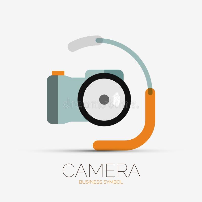 Logotipo da empresa da câmera, projeto mínimo ilustração royalty free