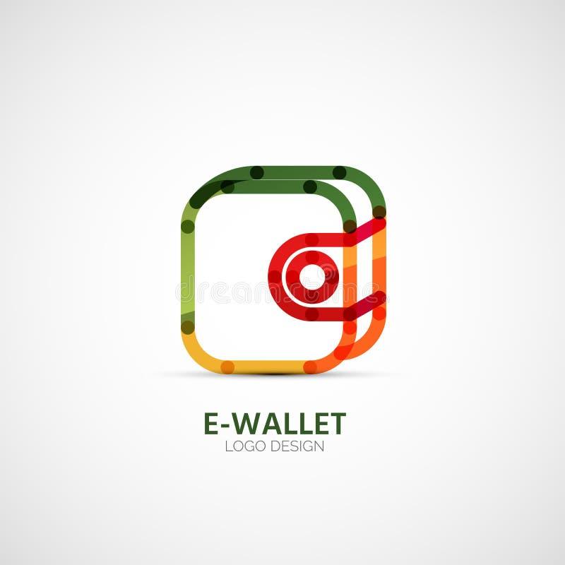 Logotipo da empresa da carteira do vetor, conceito do negócio ilustração royalty free