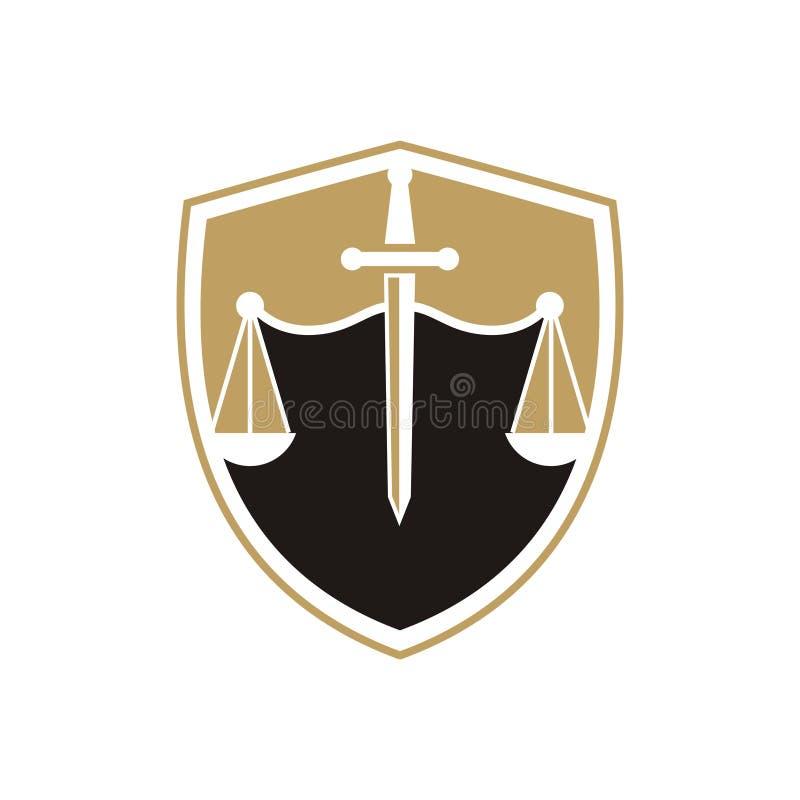 Logotipo da empresa de advocacia ilustração stock