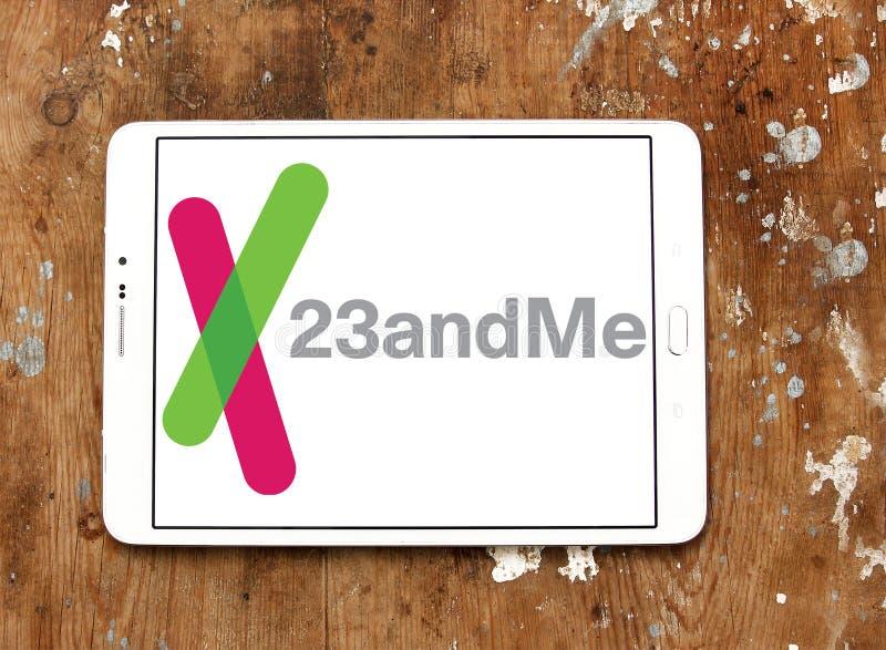 logotipo da empresa de biotecnologia 23andMe imagem de stock