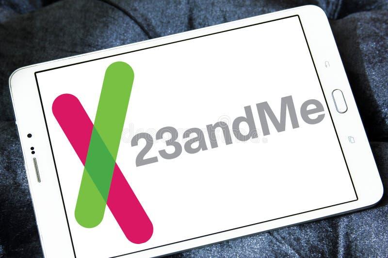 logotipo da empresa de biotecnologia 23andMe imagens de stock royalty free