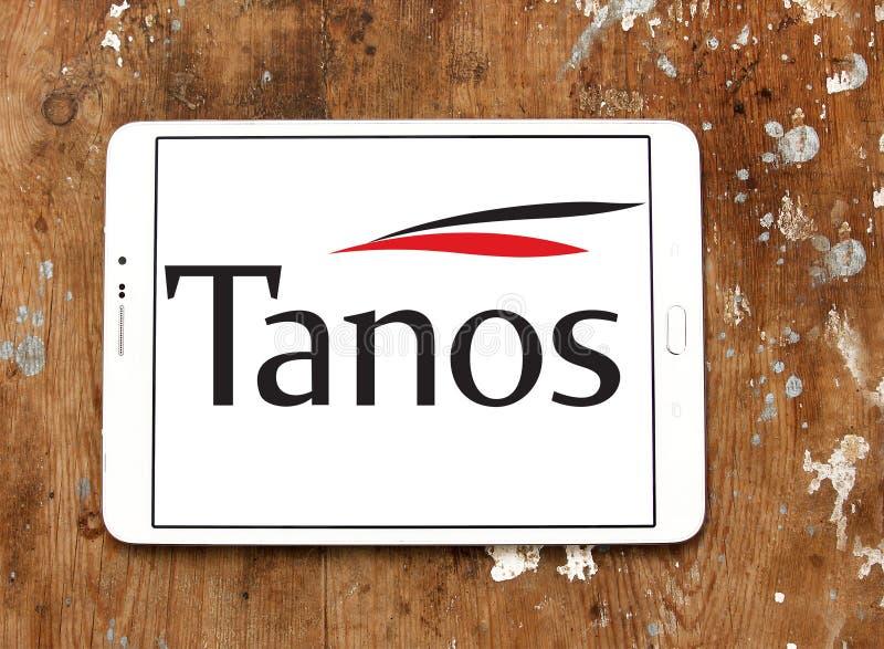 Logotipo da empresa de exploração de Tanos fotografia de stock royalty free