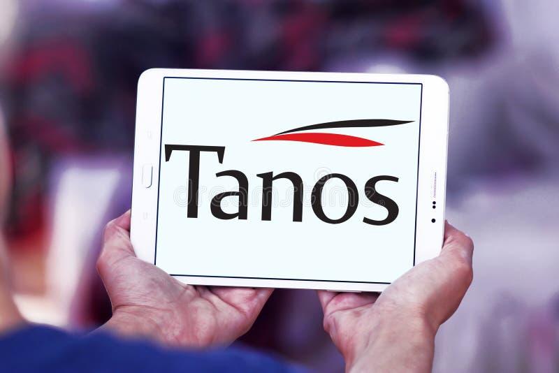 Logotipo da empresa de exploração de Tanos imagens de stock