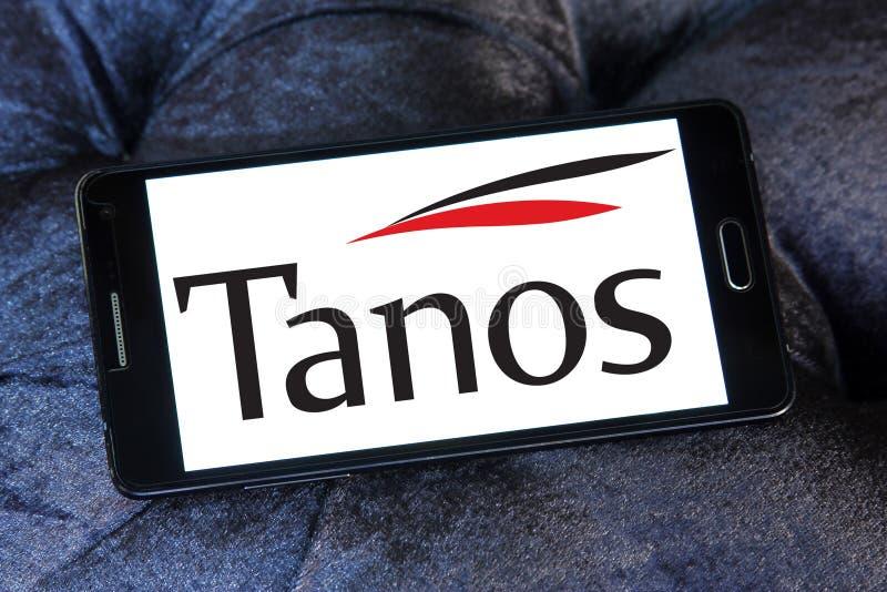 Logotipo da empresa de exploração de Tanos imagem de stock royalty free