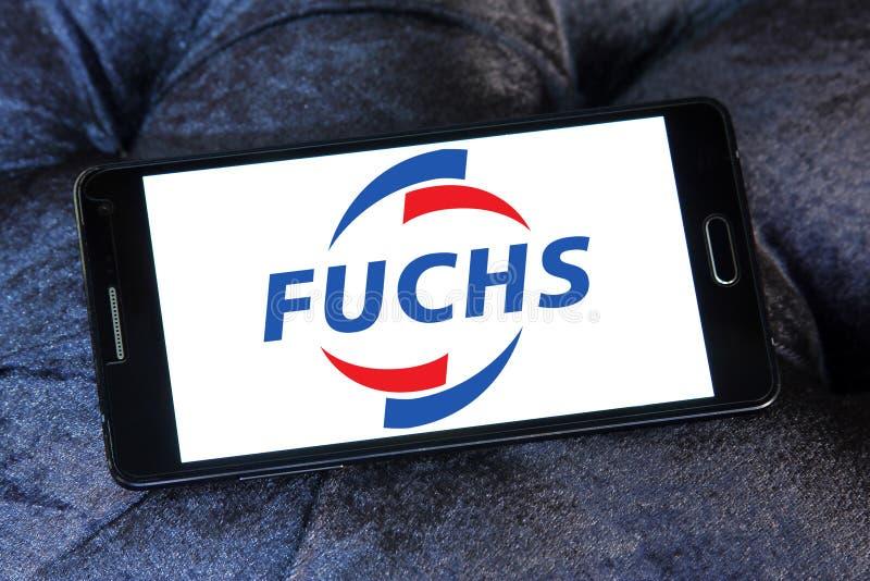Logotipo da empresa de Fuchs Petrolub imagem de stock