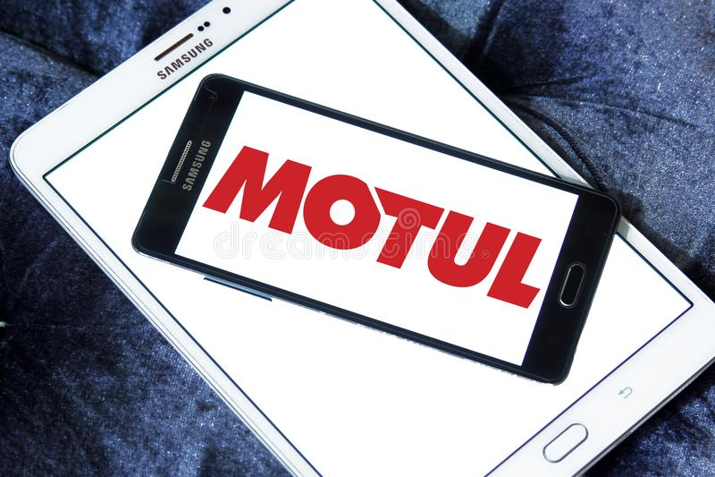 Logotipo da empresa de Motul fotografia de stock