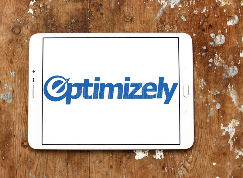 Logotipo da empresa de Optimizely fotos de stock