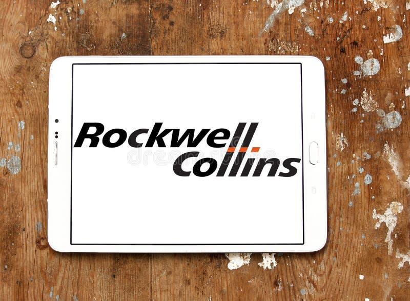 Logotipo da empresa de Rockwell Collins fotos de stock