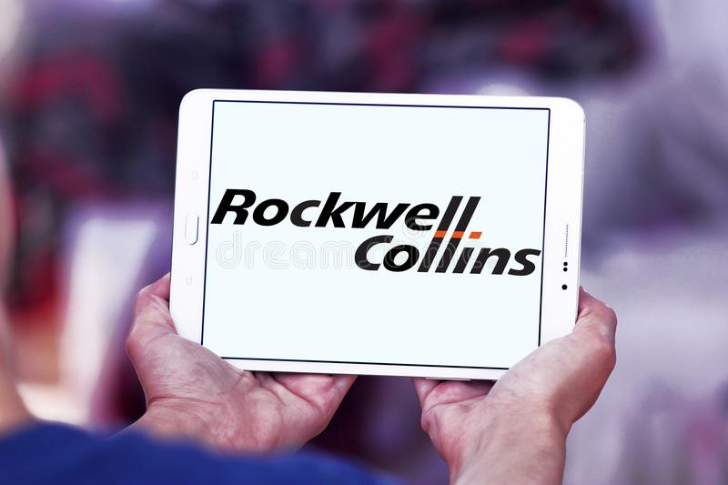Logotipo da empresa de Rockwell Collins imagem de stock