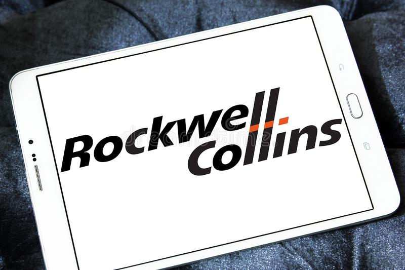 Logotipo da empresa de Rockwell Collins fotos de stock royalty free