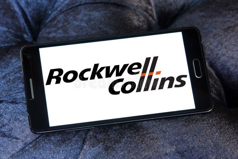 Logotipo da empresa de Rockwell Collins foto de stock