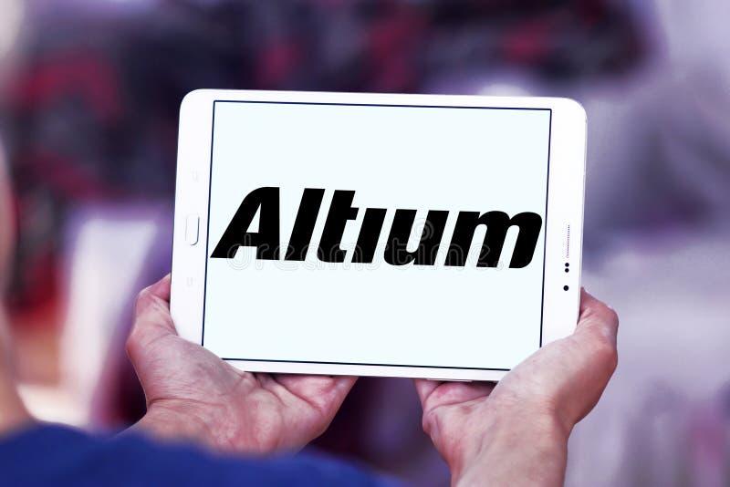 Logotipo da empresa de software de Altium fotografia de stock royalty free