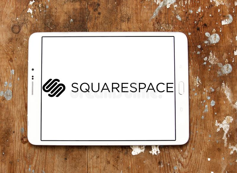 Logotipo da empresa de software de Squarespace imagem de stock royalty free