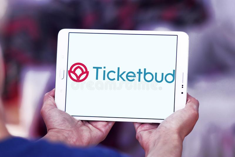 Logotipo da empresa de Ticketbud fotografia de stock