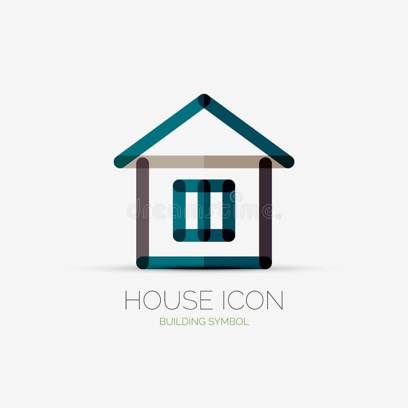 Logotipo da empresa do ícone da casa, conceito do negócio ilustração stock